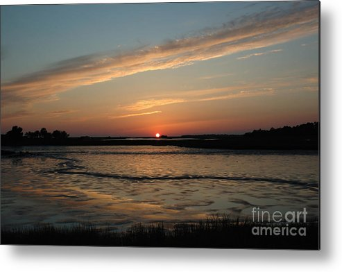 Sunset Metal Print featuring the photograph Cedar Key Sunset 1 by Kathi Shotwell