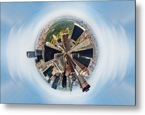 Megacity Metal Print featuring the photograph Eye Of New York by Az Jackson