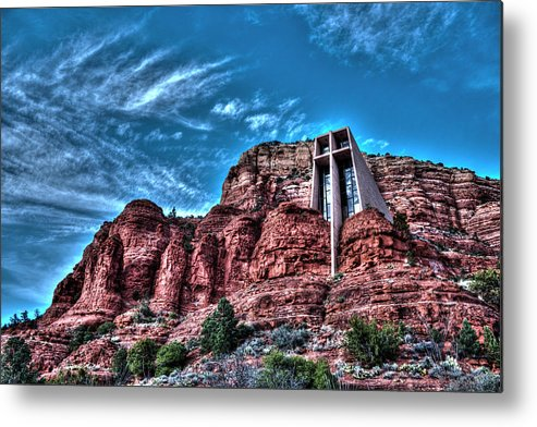 Sedona Metal Print featuring the photograph Chapel Of The Rock by Doc Hafferty