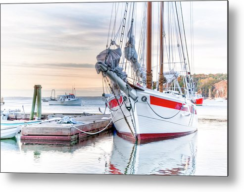 Sailboat Metal Print featuring the photograph Charmed by Jeff Cooper