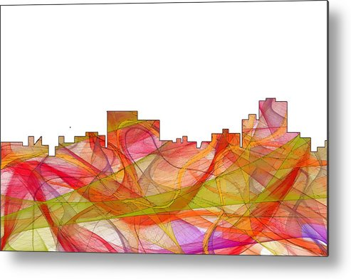 Chatanooga Tennissee Skyline Skyline Metal Print featuring the digital art Chatanooga Tennissee Skyline by Marlene Watson