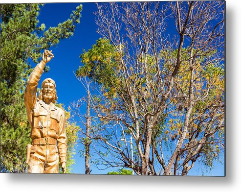 Che Guevara Metal Print featuring the photograph Che Guevara Statue In La Higuera by Jess Kraft