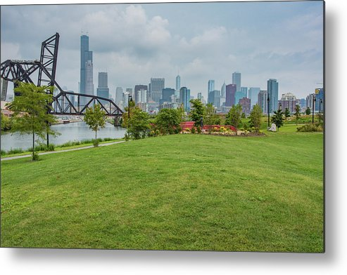 Chicago Metal Print featuring the photograph Chicago Skyline From The Southside by Anthony Doudt