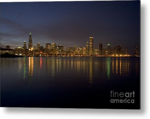 Chicago Metal Print featuring the photograph Chicago Skyline by Timothy Johnson