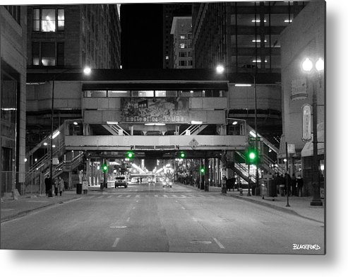 Chicago Metal Print featuring the photograph Chicago Train Station by Al Blackford