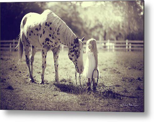 Black Mountain Ranch Metal Print featuring the photograph Chief And Grace by Wesley Allen Shaw