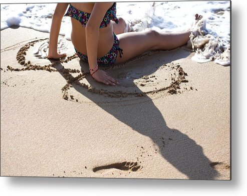 Beach Metal Print featuring the photograph Childhood by Kathy Beyer