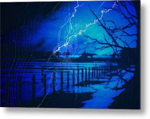 Chill Metal Print featuring the digital art Chill In The Air by Cathy Beharriell