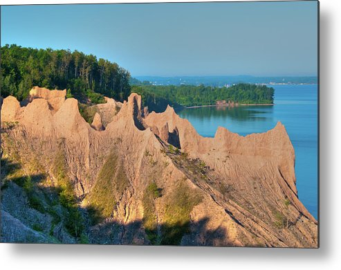 Landscape Metal Print featuring the photograph Chimney Bluffs 1750 by Guy Whiteley
