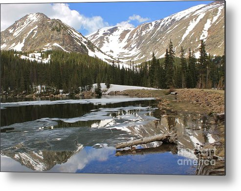 Nature Metal Print featuring the photograph Chinns Lake Reflections 3 by Tonya Hance