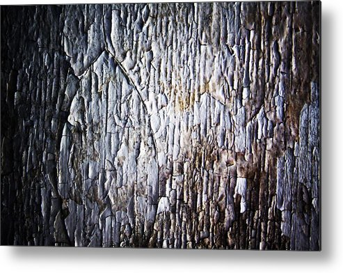White Metal Print featuring the photograph Chiped Paint by Ty Helbach