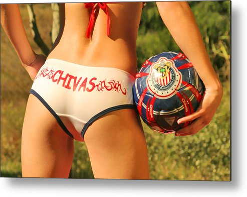 Girl Metal Print featuring the photograph Chivas Soccer by Tom Miles