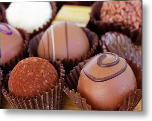 Sweet Metal Print featuring the photograph Chocolate by Anastasy Yarmolovich