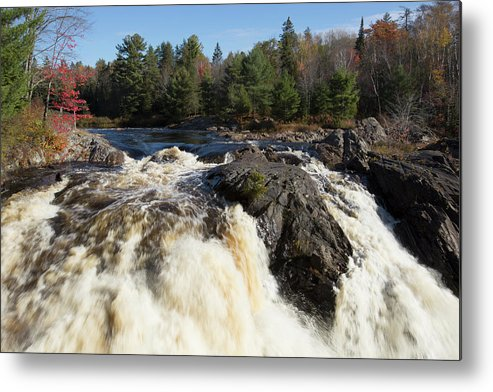 Chutes Provincial Park Metal Print featuring the photograph Chutes Falls by Catherine DeDecker
