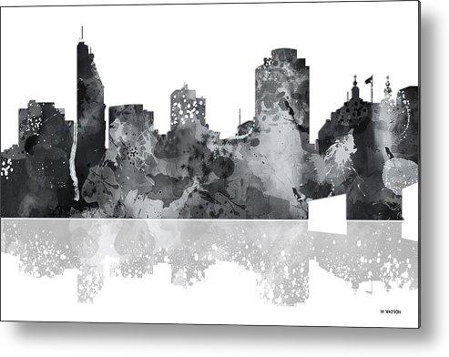 Cincinnati Ohio Skyline Metal Print featuring the digital art Cincinnati Ohio Skyline by Marlene Watson