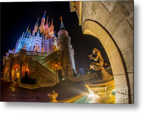 Cinderella Metal Print featuring the photograph Cinderella And Her Castle by Jeffrey Miklush