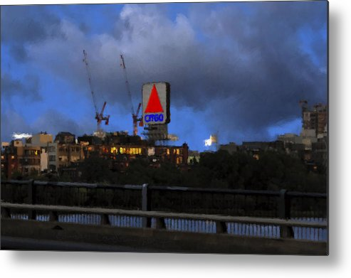 Citgo Sign Metal Print featuring the digital art Citgo Sign by Edward Cardini