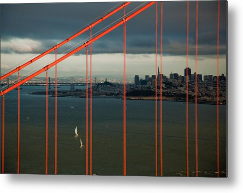Golden Gate Bridge Metal Print featuring the photograph City By The Bay by Patrick Flynn