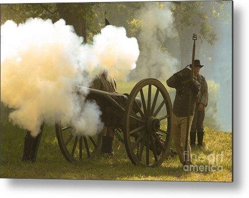 Civil War Re-enactment Metal Print featuring the photograph Civil War by Kim Henderson