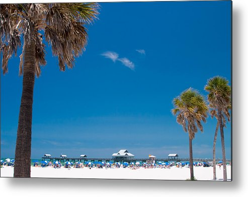 3scape Metal Print featuring the photograph Clearwater Beach by Adam Romanowicz