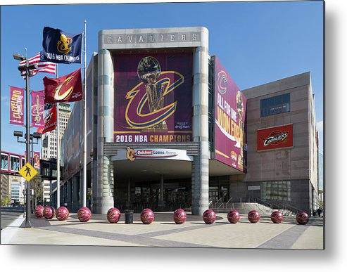 Cleveland Cavaliers The Q Metal Print featuring the photograph Cleveland Cavaliers The Q by Dale Kincaid