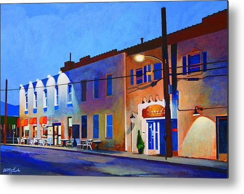 Huntington Metal Print featuring the painting Clinton Street by John Tartaglione
