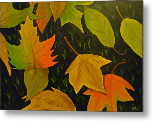 Leafs Metal Print featuring the painting Close To Winter by Christian Hidalgo