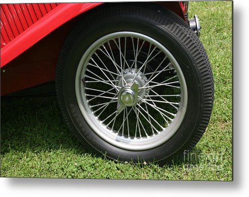 Car Metal Print featuring the photograph Close-up Of Past by Dawn Downour