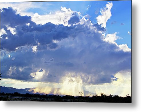 Clouds Metal Print featuring the photograph Cloud Storm On The Horizon by Micah Williams