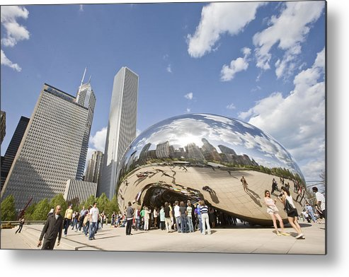 Chicago Metal Print featuring the photograph Cloudgate At Millennium Park by Abhi Ganju