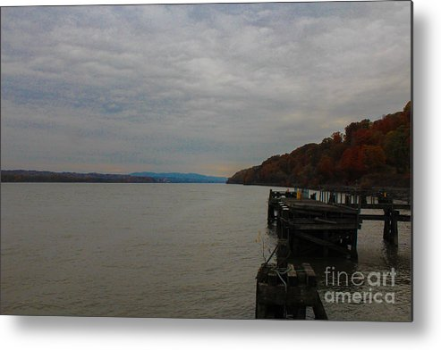 Milton Landing Metal Print featuring the photograph Clouds And Fall by Victory Designs
