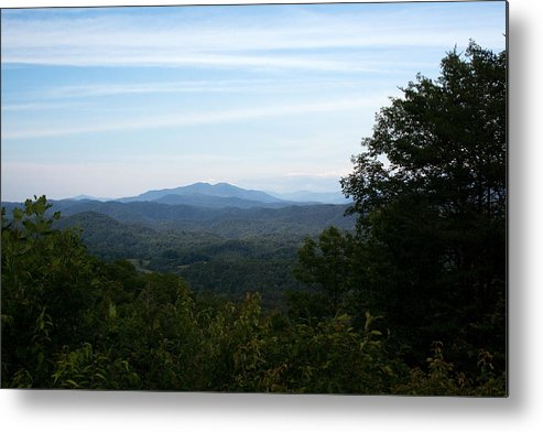 Landscape Metal Print featuring the photograph Clouds And The Smokies by Amanda Kiplinger