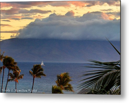 Landscape Metal Print featuring the photograph Clouds On The Mountain Top by Nicole I Hamilton