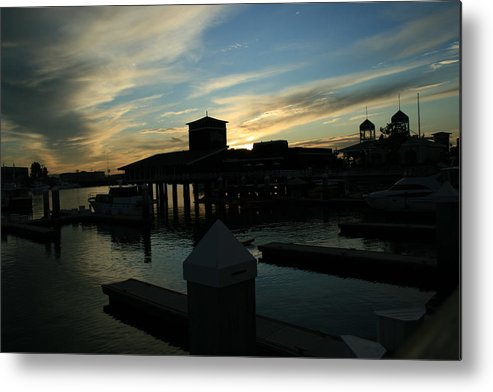 Clouds Metal Print featuring the photograph Cloudy Docks by Joshua Sunday