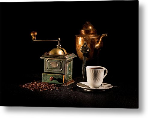 Coffee-time Metal Print featuring the photograph Coffee-time by Torbjorn Swenelius