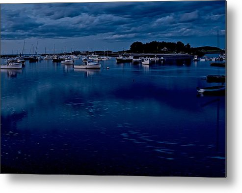 Cohasset Metal Print featuring the photograph Cohasset Harbor At Dusk by Gene Sizemore