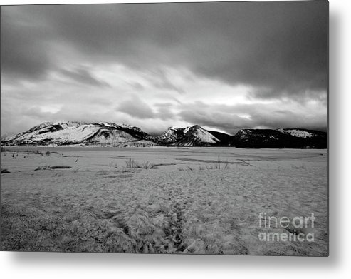 Lewis Lake Metal Print featuring the photograph Cold And Foreboding by Rodney Cammauf