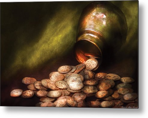 Savad Metal Print featuring the photograph Collector - Coin - Treasure Quest by Mike Savad