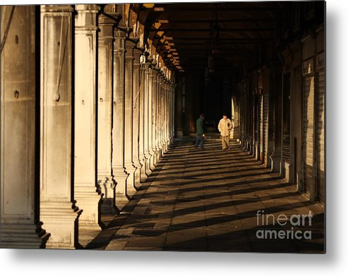Venice Metal Print featuring the photograph Collonade At San Marco In Venice In The Morning by Michael Henderson