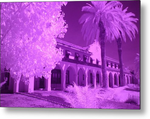 Kelso Depot Metal Print featuring the photograph Color Infrared by Carl Hinkle