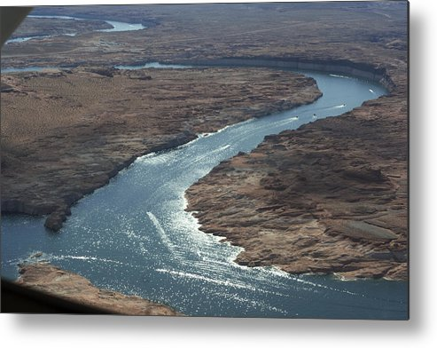 Aerial View Metal Print featuring the photograph Colorado River by Carl Purcell