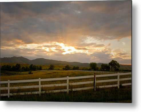 Bo Insogna Metal Print featuring the photograph Colorado Rocky Mountain Country Sunset by James BO Insogna