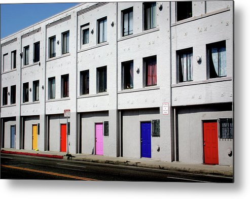 Doors Metal Print featuring the photograph Colorful Doors- By Linda Woods by Linda Woods