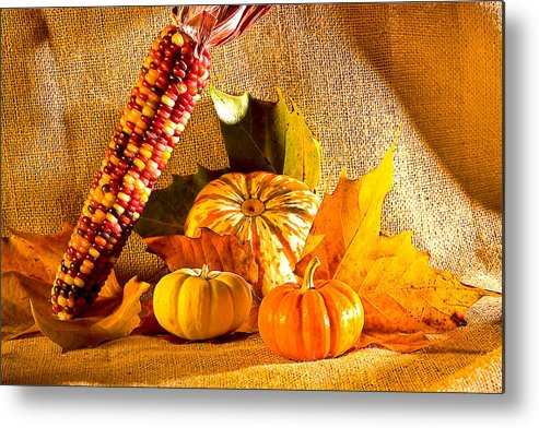 Pumpkins Metal Print featuring the photograph Colors Of Autumn by Naman Imagery
