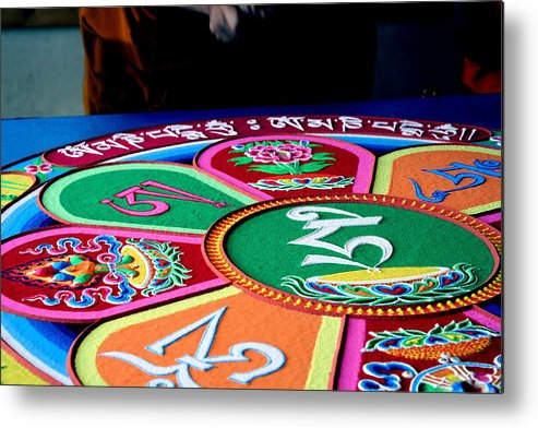 Compassion Metal Print featuring the photograph Compassion Mandala by Claire McGee