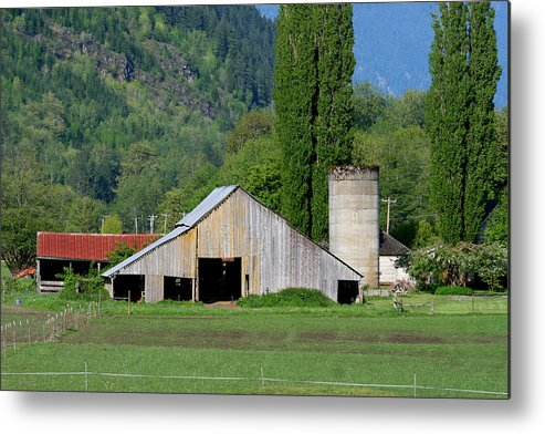 Barn Metal Print featuring the photograph Concrete Barn Summer Ba-2008 by Mary Gaines