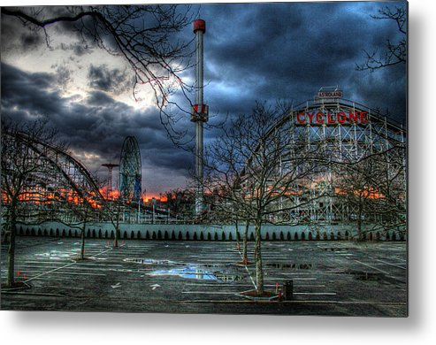 Cyclone Metal Print featuring the photograph Coney Island by Bryan Hochman