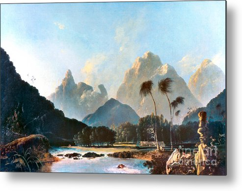 1773 Metal Print featuring the painting Cook: Tahiti, 1773 by Granger