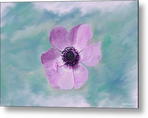 Flowers Floral Macro Nature Gardens Pink Purple Blue Green White Petals Spring Flowers Metal Print featuring the photograph Cool Spring by Linda Sannuti