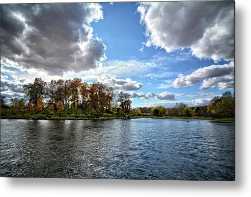 Clouds Metal Print featuring the photograph Cooler Days by Bonfire Photography